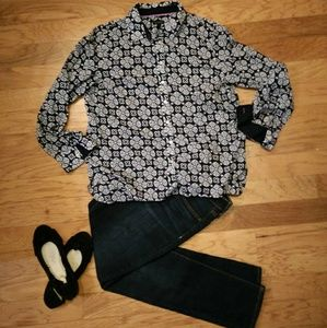Talbots Cotton Button Down Blouse
